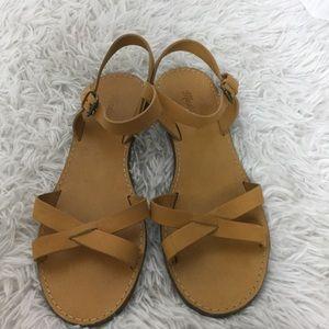 Madewell The BoardWalk Criss Cross  sandals